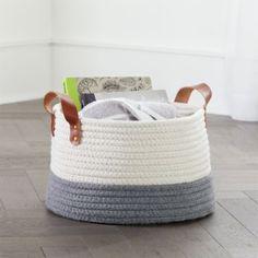 Leather Handle Medium Floor Rope Basket Sisal, Cube Toy, Toy Basket, Toy Bins, Easy Diy Crafts, Rope Crafts, Kid Crafts, Sewing Crafts, Diy Bedroom Decor
