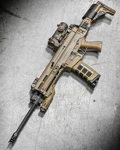 #gunsnthings . Follow @guns.n.things for daily #guns content! . @metalhead_1 ・・・ She's a beast @czusafirearms 805 Bren in FDE with Gen2 @inforce01 FDE WMLX, FDE Elcan Specter 1-4x, & @magpod at @otbfirearms. post by @gunfanatics #gun