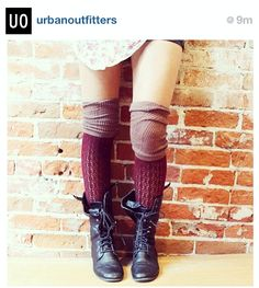 Knee high socks with combat boots