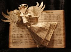 Hymnal Angel Book Sculpture. $ 75.00, via Etsy. Book Sculpture by Jodi Harvey-Brown