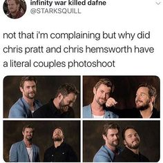 Umm idk Karen maybe because theyre a literal couple Funny Marvel Memes, Marvel Jokes, Avengers Memes, Avengers Cast, Funny Memes, Hilarious, Marvel Actors, Marvel Avengers, Marvel Comics