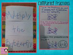 Multiply the Butterfly {comparing fractions}