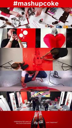 This is really an extraordinary piece of work ... gathering together artists to create this video celebrating the 100th anniversary of the iconic Coca-Cola bottle!  100 Mashup Art Film #design #creative #inspiration #mashupcoke #60seconds