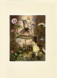 Greeting Card sample for colour illustrations from Adrienne Segur's ''Alice au pays des merveilles''