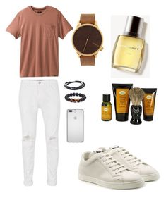 """FRIDAY Style #DeleparaEles #Lookdodia #Inspiracao"" by hallisoncampos on Polyvore featuring Topman, prAna, Fendi, Burberry, The Art of Shaving, Tateossian, Speck, men's fashion, menswear e Deleparaeles"