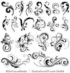 Scrolls for rosemaling inspiration