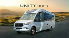Tour the 2020 Unity Twin Bed; a non-slide floorplan with seating for up to four, two twin beds that can convert into a king-size bed, three-piece dry. Leisure Travel Vans, Car Camper, Campers, Benz Sprinter, Mercedes Sprinter, Camping Glamping, Camping Trailers, Class C Rv, Winning The Lottery