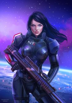 Mass Effect Characters, Mass Effect Games, Mass Effect 1, Mass Effect Universe, Fantasy Characters, Mass Effect Miranda, Miranda Lawson, Commander Shepard, Female Armor