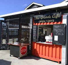 The Grande Caffe. A cafe in a shipping container at Northgate, Brisbane.