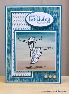 Hello, Crafters.   When I  made yesterday's card, I actually made two of them! The second one was  more or less the same as the first one, b...