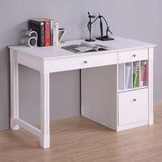 Bon Deluxe White Wood Computer Desk. Desk With StorageDesk ...