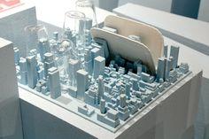 Luca Nichetto designed a rubber dish rack for Seletti that mimic's NYC cityscape- clever!