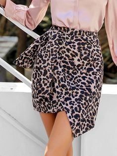 To find out about the Leopard Print Knot Front Asymmetrical Hem Skirt at SHEIN, part of our latest Skirts ready to shop online today! Lingerie Sleepwear, Fashion News, Knots, Casual Dresses, High Waisted Skirt, Clothes For Women, Outfit, Bun Pins, Fashion Accessories