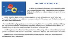 The official Rotary flag