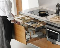 Love the idea of drawers instead of lower cabinets.....easier access