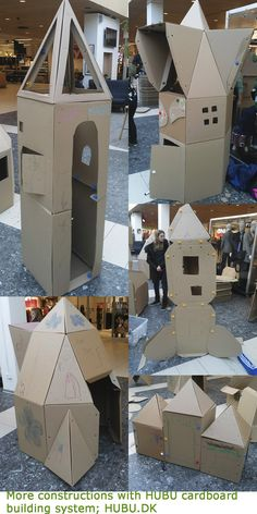 The cardboard building contest drew a very enthusiastic crowd. A lot of very creative constructions was made. Diy Cardboard, Crowd, Construction, Building, Creative, Buildings, Architectural Engineering