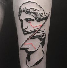 Vaporwave vibe tattoo on the left thigh Badass Tattoos, Body Tattoos, Sleeve Tattoos, Tatoos, Chest Tattoos For Women, Tattoos For Guys, Tattoo Designs And Meanings, Tattoo Designs Men, Black Tattoos