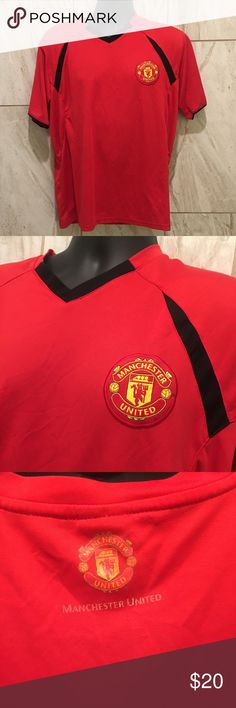 d898bf5c5 Manchester United Men's Soccer Jersey Manchester United Men's Soccer Jersey  Red breathable material in classic Manchester
