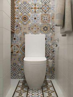 Stylish Apartment Redesign in Minsk Bathroom Design Small, Bathroom Interior Design, Modern Bathroom, Bathroom Vintage, Ideas Baños, Tile Ideas, Toilet Room, Small Toilet, Cozy Apartment