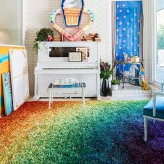 Stella Rainbow Shag Rug (7'7 x 10'5)
