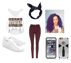 """""""Explicit"""" by briannawalker100903 ❤ liked on Polyvore featuring adidas Originals and Boohoo"""