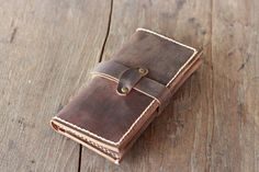 Leather iPhone Wallet Case - Available iPhone 6 / 5 / 5s / 4 / 4s --- our signature Hand-stitching --- distressed leather These are fun
