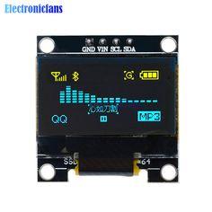 0.96 pulgadas Iic Amarillo Azul Módulo de Pantalla OLED 128X64 I2C SSD1306 Pantalla LCD 12864 Junta GND VCC SDA SCL para Arduino STM32