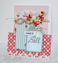 Stacey's Stamping Stage:  i {heart} papers, Paper Smooches Crystal Clear, Lily Bee Designs Sweet Shop paper, Timeless Tags, Chevron Glassine Bitty Bag