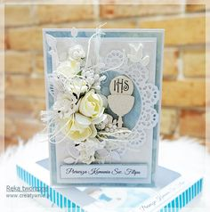 First Holy Communion, Holi, Place Cards, Decorative Boxes, Scrap, Gift Wrapping, Place Card Holders, Gifts, Gift Wrapping Paper