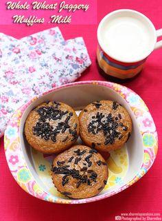 Whole Wheat Muffins and Milk - Kids Breakfast Idea 24 - Sharmis Passions Salt Biscuits Recipe, Biscuit Recipe, Breakfast Menu, Breakfast For Kids, Breakfast Recipes, Akki Roti, Capsicum Recipes, Sabudana Vada, Cooking Time