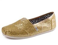 Toms Glitter Women Shoes Golden On Sale! / My kids love Toms. Toms Canvas Shoes, Toms Shoes Sale, Cheap Toms Shoes, Gold Glitter Shoes, Glitter Toms, Gold Shoes, Gold Sequins, Women's Shoes, Shoes