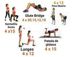 rutina de piernas y gluteos con pesas