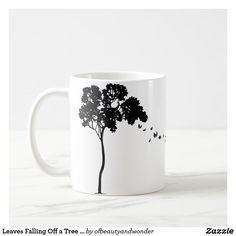 Sip from one of our many Tree coffee mugs, travel mugs and tea cups offered on Zazzle. Personalized Products, Autumn Leaves, Simple Designs, Photo Mugs, Create Your Own, Cups, Ceramics, Make It Yourself, Elegant