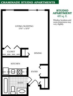 Studio Apartment Floor Plans 400 Sq Ft 400 sq. ft. layout with a creative floor plan. (actual studio