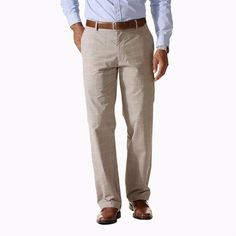 Dockers Mens Pants Signature Straight Flyeweight Flat Front Plaid size NEW Mens Dress Pants, Men's Pants, Slacks, Khaki Pants, Pajamas, Plaid, Pockets, Ebay, Cotton