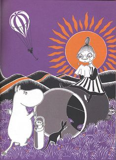 The Book about Moomin, Mymble and Little My by Tove Jansoon Illustrations, Children's Book Illustration, Moomin Books, Moomin Valley, Tove Jansson, Book Images, Little My, Malm, New Art