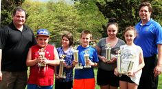 The Lackawanna County Commissioners presented trophies to the winners in the 9 – 12 years-old category of the 23rd annual fishing derby held at McDade Park. Over 110 youngsters participated in the event.