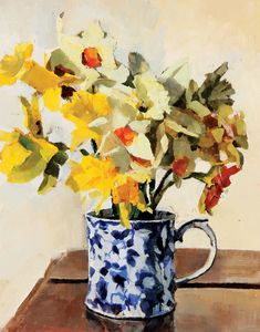 Award winning Scottish artist #daffodil_painting #flower_painting_workshop #mixedmediaflowers #mixed_media_flowers #mixed_media_workshop #workshops_for_artists