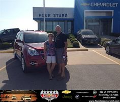 Thank you to James And Becky Hart on the 2013 Chevrolet Equinox from Scott Sanders and everyone at Four Stars Auto Ranch!