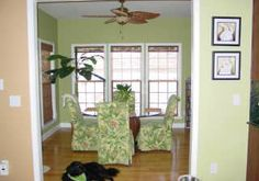 dining area sun room | note triple double hung windows