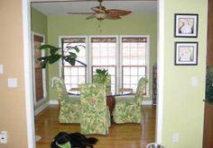 dining area sun room | note triple double hung windows