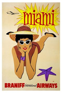 American Vintage Travel Posters | BRANIFF