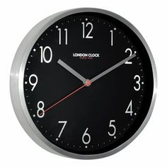 Adopt an industrial-mod feel in your space with the brushed chrome detail of the Mirage Wall Clock, from London Clock Company. Metal Walls, Metal Wall Art, 12 Hour Clock, London Clock, Online Gift Shop, Wood Colors, Save Energy, Scandinavian Design, Stone