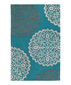 Another great find on #zulily! Teal Brooklyn Wool Rug #zulilyfinds