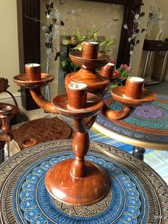 Handcrafted Rosewood Candle Holder Ornament Décor. This product is purely crafted with hands and made with 100% Rosewood. In Five candle holder out of 5, 4 petal petals can be adjusted and movable. Handmade Wooden Candle Holder Ornament Décor Handcrafted Hand Polished Pls. don't delay order not before Handcrafted Rosewood Candle Holder Ornament Décor finishes.