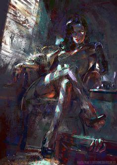"mirrorwave13: ""Black Widow by MartaNael """