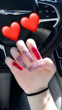 A manicure is a cosmetic elegance therapy for the finger nails and hands. A manicure could deal with just the Toe Nail Designs, Acrylic Nail Designs, Art Designs, Manicure E Pedicure, Dope Nails, Classy Nails, Cute Acrylic Nails, Glitter Nails, Nails Inspiration