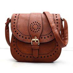 Bohemain Handtoolled Vegan Leather Saddle Bag - Sassy Posh - 2