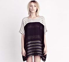 Ace & Jig tunic, woven on an ancient hand loom in India.