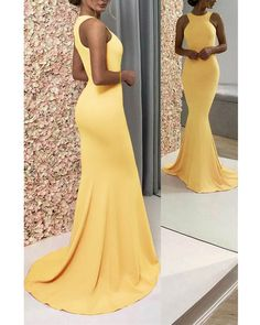 Party dresses for women, grad dresses, yellow dress, prom dress, after 5 dr Yellow Formal Dress, Yellow Party Dresses, Party Dresses For Women, Dresses For Teens, Yellow Dress Wedding, Yellow Outfits, Grad Dresses Short, Long Prom Gowns, Evening Gowns
